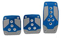 NRG  Aluminum Sport Pedal Blue w/ Silver Carbon MT