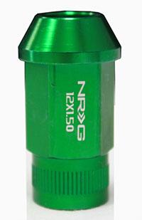 NRG 100 Series M12 x 1.5 Lug Nut Set 4 pc Green