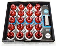 NRG 100 Series M12 x 1.25 Lug Nut Set 21 pc Red