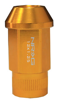 NRG 100 Series M12 x 1.25 Lug Nut Set 4 pc Rose Gold