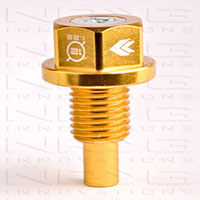 NRG Magnetic Oil Drain Plug Gold - M12x1.25 Infiniti,Lexus,Nissan,Toyota