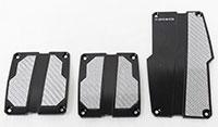 NRG  Brushed Aluminum Sport Pedal Black w/ Silver Carbon MT