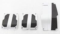 NRG  Brushed Aluminum Sport Pedal Silver w/ Black Carbon MT