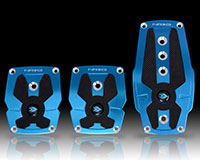 NRG  Brushed Blue aliminum sport pedal w/ Black rubber inserts MT