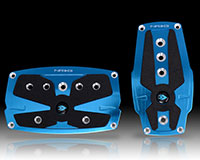 NRG  Brushed Blue aliminum sport pedal w/ Black rubber inserts AT