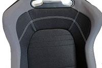 NRG  EVO Style Cloth Sport Seat w/logo (Right) - Black