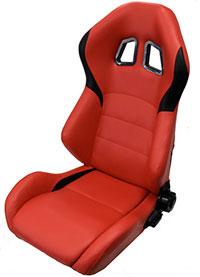 NRG  PVC leather Sport Seats Red w/ Black Trim (Right)