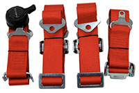 NRG  6 Pt 3inch Seat Belt Harness / Cam Lock- Red