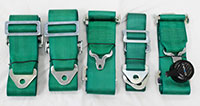 NRG  6 Pt 3inch Seat Belt Harness / Cam Lock - Green