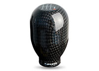 NRG Shift Knob 42mm - 6 Speed Black Carbon Fiber Heavy Weight Universal - (480g / 1.1lbs)