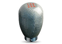 NRG Shift Knob 42mm - 5 Speed Silver Carbon Fiber
