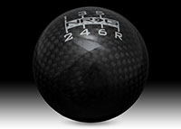 NRG Shift Knob Ball Style Black Carbon Fiber - Heavy Weight - 6 Speed - (480g / 1.1lbs)