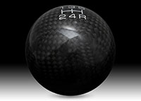 NRG Shift Knob Ball Style Universal Black Carbon Fiber - 5 Speed pattern - No Logo