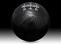 NRG Shift Knob Ball Style Black Carbon Fiber - Heavy Weight - Universal - (480g / 1.1lbs)
