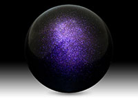 NRG Shift Knob Ball Style Green/Purple Heavy Weight for Honda - (480g / 1.1lbs)