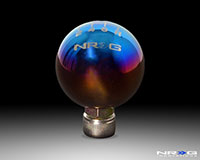 NRG Shift Knob Ball Style Burnt Titanium for Honda 6 Speed 42mm