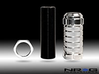 NRG  Stealth Adjustable Shift Knob Silver for Honda, Acura, Lotus M10x1.50