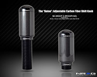 "NRG  NRG Carbon Fiber ""The Baton"" Style Adjustable Shift Knob - M10 x 1.50"