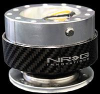 NRG  Quick Release Kit Gen 1.0 - Silver/Carbon Fiber