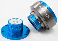 NRG  Quick Release Kit Gen 2.0 - New Blue Body/Titanium Chrome Ring