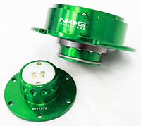 NRG  Quick Release Kit Gen 2.5 - Green Body/Titanium Chrome Ring