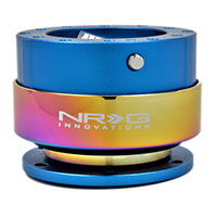NRG  Quick Release Kit Gen 2.0 - Blue Body/Titanium Chrome Ring