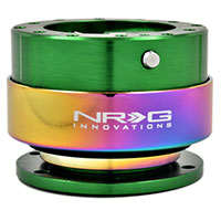 NRG  Quick Release Kit Gen 2.0 - Green Body/Titanium Chrome Ring
