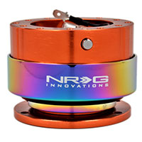 NRG  Quick Release Kit Gen 2.0 - Orange Body/Titanium Chrome Ring