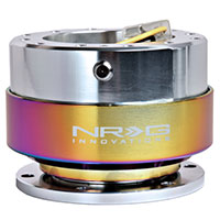 NRG  Quick Release Gen 2.0 (Shiny Silver Body w/ Neochrome Ring)