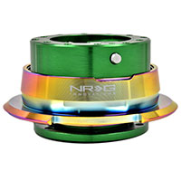 NRG  Quick Release Kit Gen 2.8 - Green Body/Titanium Chrome Ring