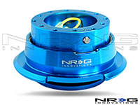 NRG  Quick Release Kit Gen 2.8 - New Blue Body/Titanium Chrome Ring