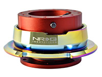 NRG  Quick Release Kit Gen 2.8 - Red Body/Titanium Chrome Ring