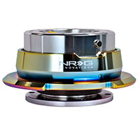 NRG  Quick Release Gen 2.8 ( Shiny Silver Boby w/ Diamond Cut Neochrome Ring)