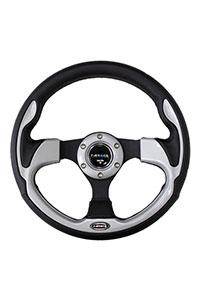 NRG  320mm Sport Steering Wheel w/ Silver Trim