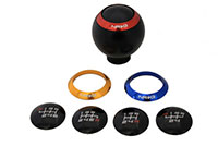 NRG  Black Shift Knob - 4 interchangeable rings