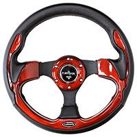 NRG  320mm Sport Steering Wheel w/ Red Trim