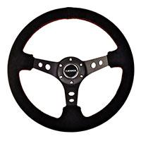 """NRG  350mm Sport Steering Wheel (3"""" Deep) - Suede"""