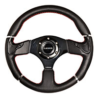 NRG  350mm Sport Leather Steering Wheel with trim