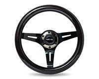 NRG  Classic Black Wood Grain Wheel, 310mm, 3 spoke center in Black Chrome