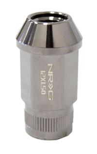 NRG 100 Series M12 x 1.5 Lug Nut Set 4 pc Black Chrome