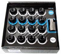 NRG 100 Series M12 x 1.5 Lug Nut Set 17 pc Black