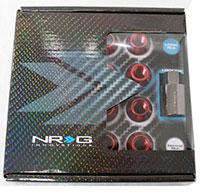 NRG 100 Series M12 x 1.5 Lug Nut Set 17 pc Red