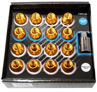 NRG 100 Series M12 x 1.25 Lug Nut Set 17 pc Rose Gold