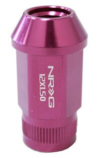 NRG 100 Series M12 x 1.5 Lug Nut Set 4 pc Purple