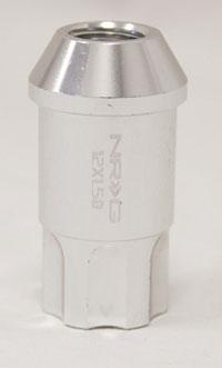 NRG 100 Series M12 x 1.5 Lug Nut Set 4 pc Silver