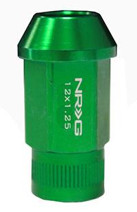 NRG 100 Series M12 x 1.25 Lug Nut Set 4 pc Green