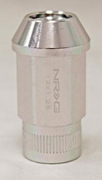 NRG 100 Series M12 x 1.25 Lug Nut Set 4 pc Silver