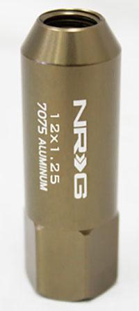 NRG 400 Series M12 x 1.25 Extended Lug Nut Set 4 pcTitanium T7075