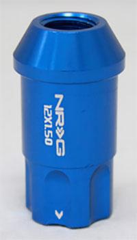 NRG 100 Series M12 x 1.5 Lug Nut Lock Set 4 pc Blue