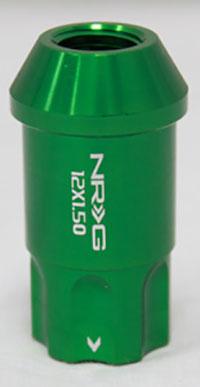 NRG 100 Series M12 x 1.5 Lug Nut Lock Set 4 pc Green